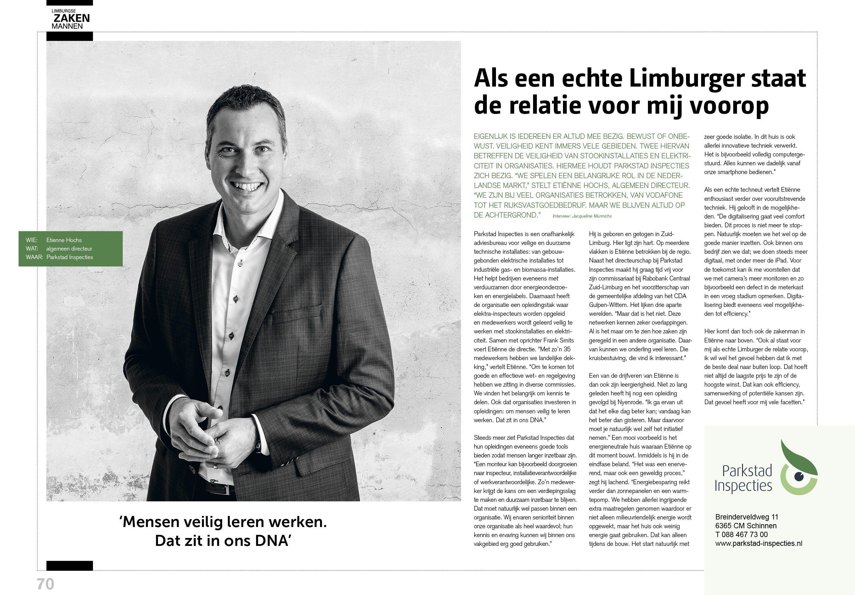 Interview Etienne Hochs in Limburgse Zaken Mannen III november 2017